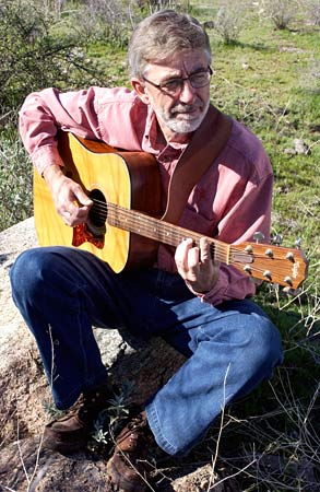 R. Mark Fogelson and his guitar